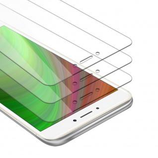 Cadorabo 3x Panzer Folie für Xiaomi Mi MAX 2 - Schutzfolie in KRISTALL KLAR - 3er Pack Gehärtetes (Tempered) Display-Schutzglas in 9H Härte mit 3D Touch Kompatibilität
