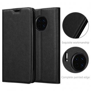 Cadorabo Hülle für Huawei MATE 30 in NACHT SCHWARZ - Handyhülle mit Magnetverschluss, Standfunktion und Kartenfach - Case Cover Schutzhülle Etui Tasche Book Klapp Style - Vorschau 5