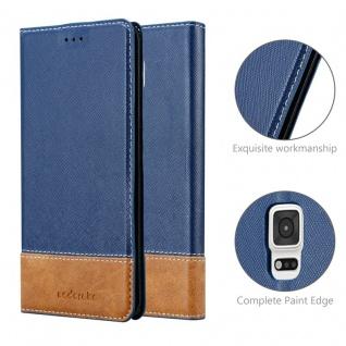 Cadorabo Hülle für Samsung Galaxy NOTE EDGE in DUNKEL BLAU BRAUN ? Handyhülle mit Magnetverschluss, Standfunktion und Kartenfach ? Case Cover Schutzhülle Etui Tasche Book Klapp Style - Vorschau 5