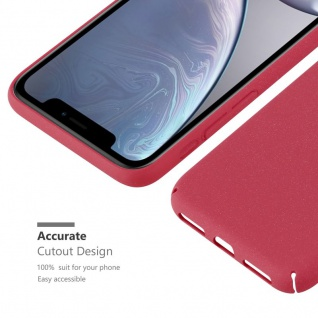 Cadorabo Hülle für Apple iPhone XR in FROSTY ROT - Hardcase Handyhülle aus Plastik gegen Kratzer und Stöße - Schutzhülle Bumper Ultra Slim Back Case Hard Cover - Vorschau 3