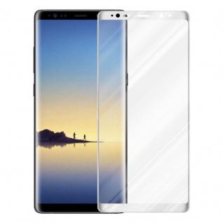 Cadorabo Vollbild Panzer Folie für Samsung Galaxy NOTE 8 - Schutzfolie in TRANSPARENT mit WEISS - Gehärtetes (Tempered) Display-Schutzglas in 9H Härte mit 3D Touch Kompatibilität - Vorschau 2