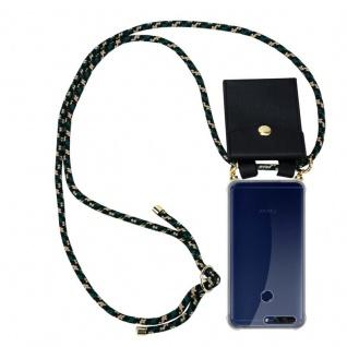 Cadorabo Handy Kette für Honor 8 PRO in CAMOUFLAGE Silikon Necklace Umhänge Hülle mit Gold Ringen, Kordel Band Schnur und abnehmbarem Etui Schutzhülle