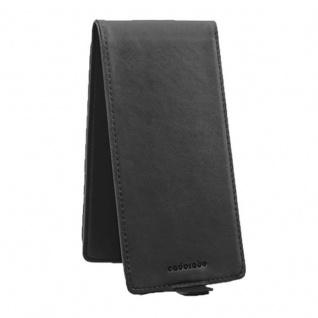 Cadorabo Hülle für Sony Xperia XA in OXID SCHWARZ - Handyhülle im Flip Design aus strukturiertem Kunstleder - Case Cover Schutzhülle Etui Tasche Book Klapp Style - Vorschau 4