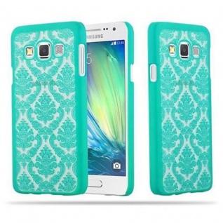 Samsung Galaxy A3 2015 Hardcase Hülle in GRÜN von Cadorabo - Blumen Paisley Henna Design Schutzhülle ? Handyhülle Bumper Back Case Cover