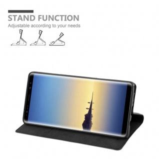 Cadorabo Hülle für Samsung Galaxy NOTE 8 in NACHT SCHWARZ - Handyhülle mit Magnetverschluss, Standfunktion und Kartenfach - Case Cover Schutzhülle Etui Tasche Book Klapp Style - Vorschau 3
