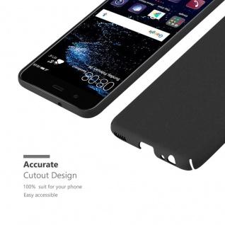 Cadorabo Hülle für Huawei P10 in FROSTY SCHWARZ - Hardcase Handyhülle aus Plastik gegen Kratzer und Stöße - Schutzhülle Bumper Ultra Slim Back Case Hard Cover - Vorschau 5