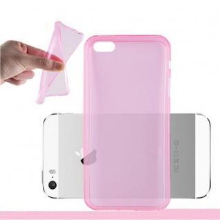 Cadorabo Hülle für Apple iPhone 5 / iPhone 5S / iPhone SE - Hülle in TRANSPARENT PINK ? Handyhülle aus TPU Silikon im Ultra Slim 'AIR' Design - Ultra Slim Soft Backcover Case Bumper