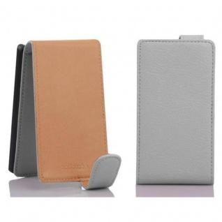 Cadorabo Hülle für Sony Xperia E1 in MAGNESIUM WEIß - Handyhülle im Flip Design aus strukturiertem Kunstleder - Case Cover Schutzhülle Etui Tasche Book Klapp Style - Vorschau 2