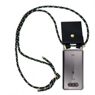 Cadorabo Handy Kette für LG V20 in CAMOUFLAGE - Silikon Necklace Umhänge Hülle mit Gold Ringen, Kordel Band Schnur und abnehmbarem Etui ? Schutzhülle