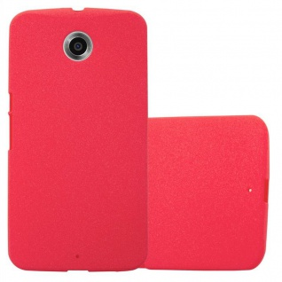 Cadorabo Hülle für Motorola NEXUS 6 in FROST ROT - Handyhülle aus flexiblem TPU Silikon - Silikonhülle Schutzhülle Ultra Slim Soft Back Cover Case Bumper