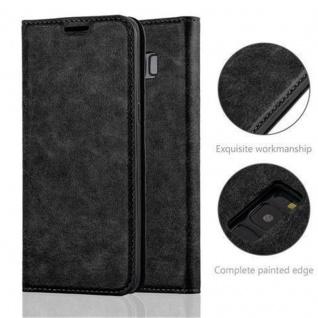 Cadorabo Hülle für Samsung Galaxy S8 in NACHT SCHWARZ - Handyhülle mit Magnetverschluss, Standfunktion und Kartenfach - Case Cover Schutzhülle Etui Tasche Book Klapp Style - Vorschau 2