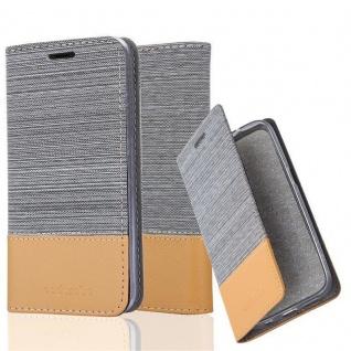 Cadorabo Hülle für BQ Aquaris X5 in HELL GRAU BRAUN - Handyhülle mit Magnetverschluss, Standfunktion und Kartenfach - Case Cover Schutzhülle Etui Tasche Book Klapp Style