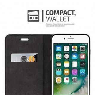 Cadorabo Hülle für Apple iPhone 8 PLUS / 7 PLUS / 7S PLUS in CAPPUCCINO BRAUN - Handyhülle mit Magnetverschluss, Standfunktion und Kartenfach - Case Cover Schutzhülle Etui Tasche Book Klapp Style - Vorschau 3