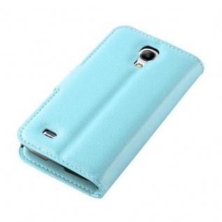 Cadorabo Hülle für Samsung Galaxy S4 MINI in PASTEL BLAU - Handyhülle mit Magnetverschluss, Standfunktion und Kartenfach - Case Cover Schutzhülle Etui Tasche Book Klapp Style - Vorschau 4