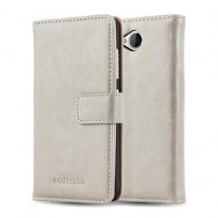 Cadorabo Hülle für Nokia Lumia 650 in CAPPUCCINO BRAUN ? Handyhülle mit Magnetverschluss, Standfunktion und Kartenfach ? Case Cover Schutzhülle Etui Tasche Book Klapp Style - Vorschau 1