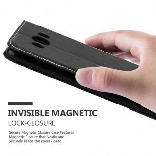Cadorabo Hülle für Samsung Galaxy J7 2016 in SCHWARZ BRAUN - Handyhülle mit Magnetverschluss, Standfunktion und Kartenfach - Case Cover Schutzhülle Etui Tasche Book Klapp Style - Vorschau 5