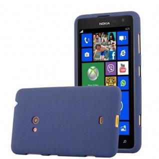 Cadorabo Hülle für Nokia Lumia 625 in FROST DUNKEL BLAU - Handyhülle aus flexiblem TPU Silikon - Silikonhülle Schutzhülle Ultra Slim Soft Back Cover Case Bumper
