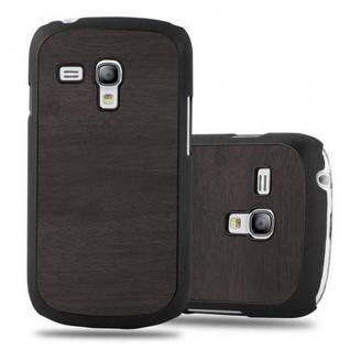 Cadorabo Hülle für Samsung Galaxy S3 MINI in WOODY SCHWARZ - Hardcase Handyhülle aus Plastik gegen Kratzer und Stöße - Schutzhülle Bumper Ultra Slim Back Case Hard Cover