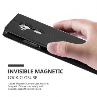Cadorabo Hülle für Huawei MATE 8 in KOMETEN SCHWARZ - Handyhülle mit Magnetverschluss, Standfunktion und 2 Sichtfenstern - Case Cover Schutzhülle Etui Tasche Book Klapp Style - Vorschau 5