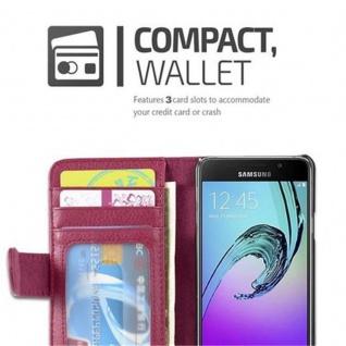 Cadorabo Hülle für Samsung Galaxy A3 2016 in BORDEAUX LILA - Handyhülle mit Magnetverschluss und 3 Kartenfächern - Case Cover Schutzhülle Etui Tasche Book Klapp Style - Vorschau 2
