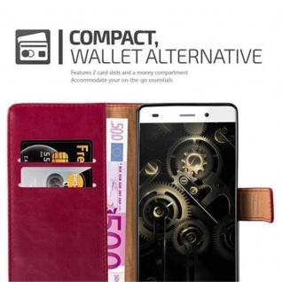 Cadorabo Hülle für Huawei P8 LITE 2015 in WEIN ROT - Handyhülle mit Magnetverschluss, Standfunktion und Kartenfach - Case Cover Schutzhülle Etui Tasche Book Klapp Style - Vorschau 2