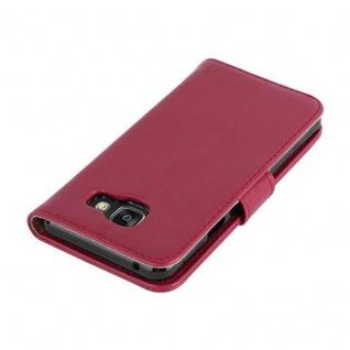 Cadorabo Hülle für Samsung Galaxy A3 2016 in WEIN ROT - Handyhülle mit Magnetverschluss, Standfunktion und Kartenfach - Case Cover Schutzhülle Etui Tasche Book Klapp Style - Vorschau 4
