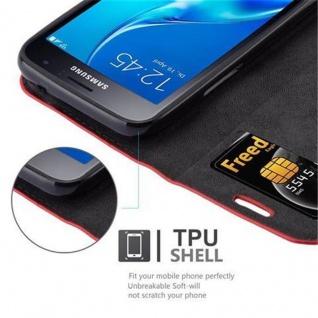 Cadorabo Hülle für Samsung Galaxy J1 MINI 2016 in APFEL ROT - Handyhülle mit Magnetverschluss, Standfunktion und Kartenfach - Case Cover Schutzhülle Etui Tasche Book Klapp Style - Vorschau 3