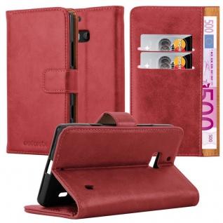 Cadorabo Hülle für Nokia Lumia 929 / 930 in WEIN ROT ? Handyhülle mit Magnetverschluss, Standfunktion und Kartenfach ? Case Cover Schutzhülle Etui Tasche Book Klapp Style