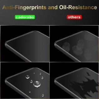 Cadorabo Vollbild Panzer Folie für Samsung Galaxy A10 - Schutzfolie in TRANSPARENT mit SCHWARZ - Gehärtetes (Tempered) Display-Schutzglas in 9H Härte mit 3D Touch Kompatibilität - Vorschau 5