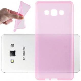 Cadorabo Hülle für Samsung Galaxy A7 2015 in TRANSPARENT PINK - Handyhülle aus flexiblem TPU Silikon - Silikonhülle Schutzhülle Ultra Slim Soft Back Cover Case Bumper