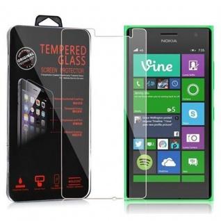 Cadorabo Panzer Folie für Nokia Lumia 730 - Schutzfolie in KRISTALL KLAR - Gehärtetes (Tempered) Display-Schutzglas in 9H Härte mit 3D Touch Kompatibilität