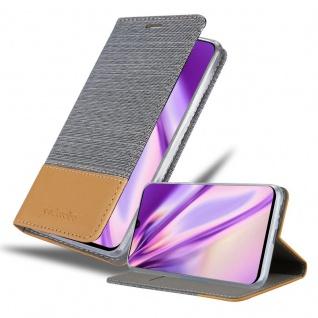 Cadorabo Hülle für Samsung Galaxy A90 5G in HELL GRAU BRAUN Handyhülle mit Magnetverschluss, Standfunktion und Kartenfach Case Cover Schutzhülle Etui Tasche Book Klapp Style