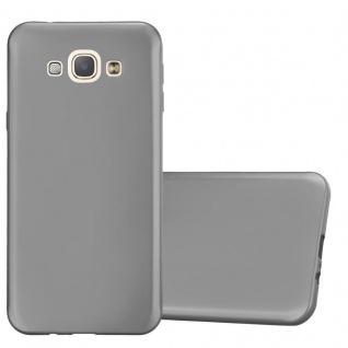 Cadorabo Hülle für Samsung Galaxy A8 2015 in METALLIC GRAU - Handyhülle aus flexiblem TPU Silikon - Silikonhülle Schutzhülle Ultra Slim Soft Back Cover Case Bumper