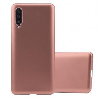 Cadorabo Hülle für Samsung Galaxy A50 in METALLIC ROSÉ GOLD - Handyhülle aus flexiblem TPU Silikon - Silikonhülle Schutzhülle Ultra Slim Soft Back Cover Case Bumper