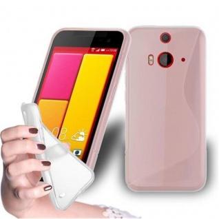 Cadorabo Hülle für HTC BUTTERFLY 2 in HALB TRANSPARENT ? Handyhülle aus flexiblem TPU Silikon ? Silikonhülle Schutzhülle Ultra Slim Soft Back Cover Case Bumper