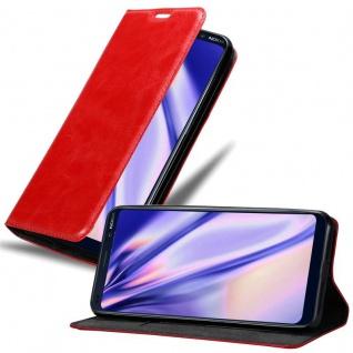 Cadorabo Hülle für Nokia 9 Pure View in APFEL ROT Handyhülle mit Magnetverschluss, Standfunktion und Kartenfach Case Cover Schutzhülle Etui Tasche Book Klapp Style