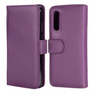 Cadorabo Hülle für Huawei P20 PRO in BORDEAUX LILA ? Handyhülle mit Magnetverschluss und 3 Kartenfächern ? Case Cover Schutzhülle Etui Tasche Book Klapp Style - Vorschau 3