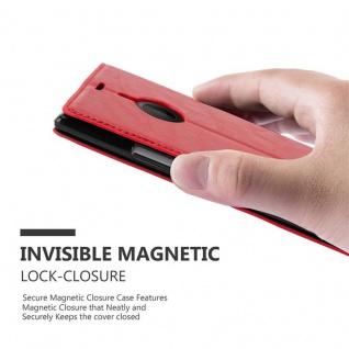 Cadorabo Hülle für Nokia Lumia 1520 in APFEL ROT Handyhülle mit Magnetverschluss, Standfunktion und Kartenfach Case Cover Schutzhülle Etui Tasche Book Klapp Style - Vorschau 4
