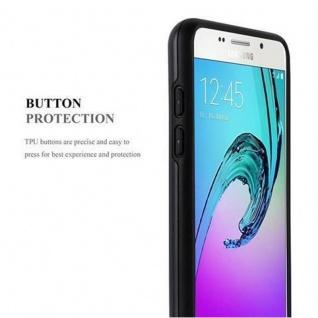 Cadorabo Hülle für Samsung Galaxy A3 2016 - Hülle in ARMOR SCHWARZ ? Handyhülle mit Kartenfach - Hard Case TPU Silikon Schutzhülle für Hybrid Cover im Outdoor Heavy Duty Design - Vorschau 4