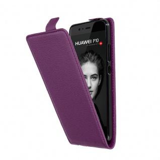 Cadorabo Hülle für Huawei P10 in BORDEAUX LILA - Handyhülle im Flip Design aus strukturiertem Kunstleder - Case Cover Schutzhülle Etui Tasche Book Klapp Style