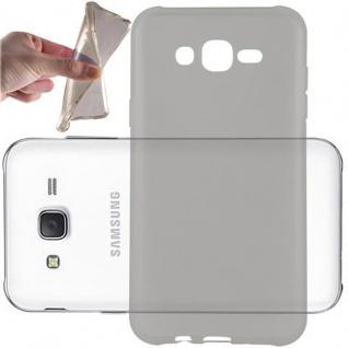 Cadorabo Hülle für Samsung Galaxy J7 2015 in TRANSPARENT SCHWARZ - Handyhülle aus flexiblem TPU Silikon - Silikonhülle Schutzhülle Ultra Slim Soft Back Cover Case Bumper
