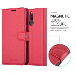 Cadorabo Hülle für Huawei MATE 10 LITE in KARMIN ROT - Handyhülle mit Magnetverschluss, Standfunktion und Kartenfach - Case Cover Schutzhülle Etui Tasche Book Klapp Style - Vorschau 2