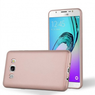 Cadorabo Hülle für Samsung Galaxy J5 2016 in METALLIC ROSÉ GOLD - Handyhülle aus flexiblem TPU Silikon - Silikonhülle Schutzhülle Ultra Slim Soft Back Cover Case Bumper