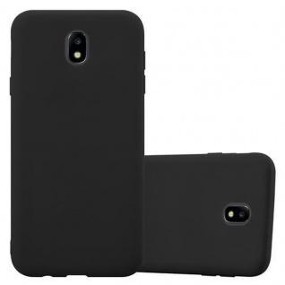 Cadorabo Hülle für Samsung Galaxy J3 2017 in CANDY SCHWARZ - Handyhülle aus flexiblem TPU Silikon - Silikonhülle Schutzhülle Ultra Slim Soft Back Cover Case Bumper