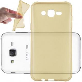 Cadorabo Hülle für Samsung Galaxy J7 2015 in TRANSPARENT GOLD - Handyhülle aus flexiblem TPU Silikon - Silikonhülle Schutzhülle Ultra Slim Soft Back Cover Case Bumper