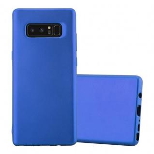 Cadorabo Hülle für Samsung Galaxy NOTE 8 in METALLIC BLAU Handyhülle aus flexiblem TPU Silikon Silikonhülle Schutzhülle Ultra Slim Soft Back Cover Case Bumper