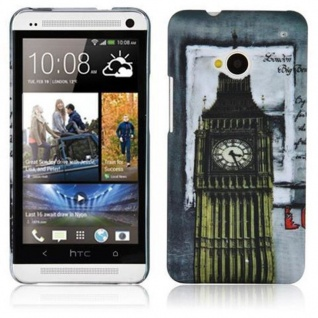 Cadorabo - Hard Cover für HTC ONE M7 (1.Generation) - Case Cover Schutzhülle Bumper im Design: LONDON - BIG BEN