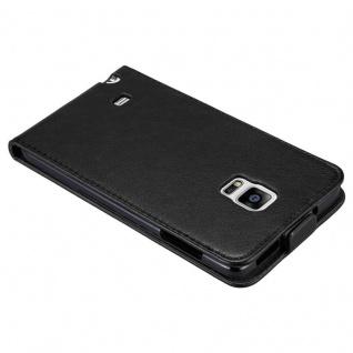 Cadorabo Hülle für Samsung Galaxy NOTE EDGE in NACHT SCHWARZ - Handyhülle im Flip Design mit unsichtbarem Magnetverschluss - Case Cover Schutzhülle Etui Tasche Book Klapp Style - Vorschau 3