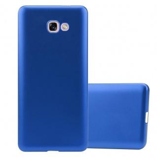 Cadorabo Hülle für Samsung Galaxy A7 2017 in METALLIC BLAU - Handyhülle aus flexiblem TPU Silikon - Silikonhülle Schutzhülle Ultra Slim Soft Back Cover Case Bumper