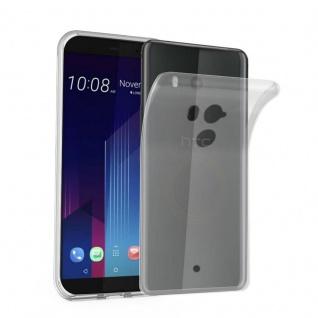 Cadorabo Hülle für HTC U11 PLUS in VOLL TRANSPARENT - Handyhülle aus flexiblem TPU Silikon - Silikonhülle Schutzhülle Ultra Slim Soft Back Cover Case Bumper